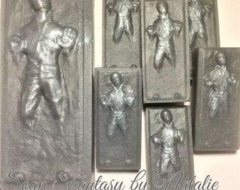 Star Wars Soap Set-7 Han Solo Soaps-Han Solo in carbonite Soap- Star Wars Soap Set