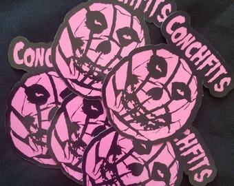 """4"""" die cut Conchfits Sticker"""