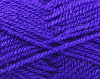 Purple (236) King Cole Pricewise DK Double Knit Yarn Knitting