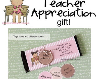 Personalized Teacher Appreciation / Hershey Candy Bar Wraps - Teacher Appreciation Gift Ideas /Personalized Teacher Appreciation Gift