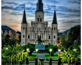 New Orleans Jackson Square at Dusk