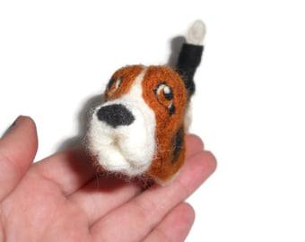 Custom Basset hound - needle felted puppy soft sculpture - Customized dog art