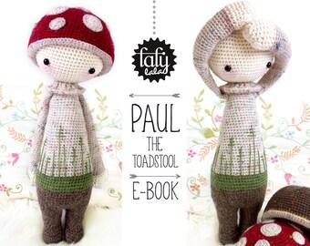 PAUL the toadstool • lalylala crochet pattern / amigurumi