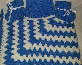 3 piece baby blanket set