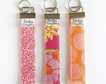 Keychain Wristlet. Key Fob Wrist. Key Fob Holder. Fabric Keychain. Fabric Key Fob. Fabric Wristlet. Gift Under 10 Keyring Wallet. Key Holder