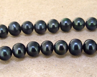 """One Full Strand--- Luster Black Pearl Pure Freshwater Pearl----10mm----about  40 Pieces----15.5"""""""