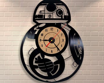 BB-8 Star Wars vinyl wall record clock the force awakens