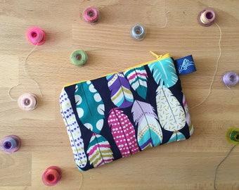 Clutch. Personalized Clutch bag. Zipper pouch. Purse. Bag pouch. Personalized sachet. Case.