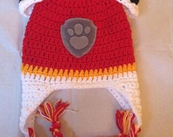 Paw patrol crocheted hat age 3-5