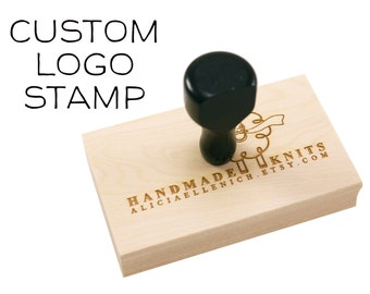 Large CUSTOM LOGO or TEXT Wood Stamp | custom logo stamp | Custom Wood Stamp for business, wedding, branding, event