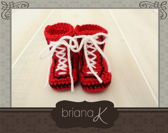 PATTERN Instant Download, Preemie- 3 Months, Baby Boxer Shoes
