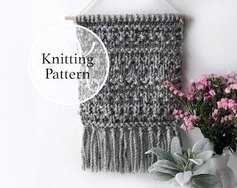 Wall Decor Knitting Pattern, Woodsboro Wall Hanging, Instant Download