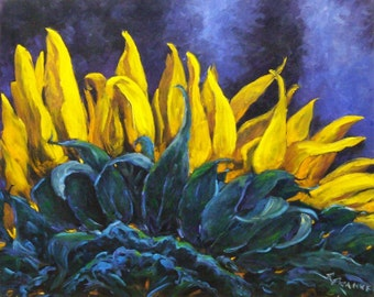 Sun flower Painting Majestica Reserved Listing for LAW