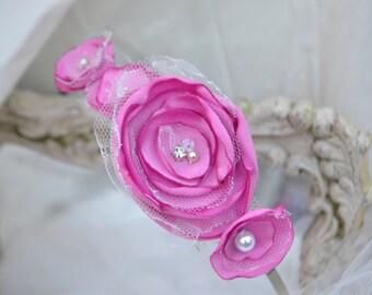 Fabric flower headband.
