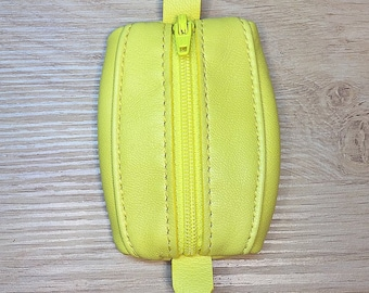 Mini yellow leather wallet