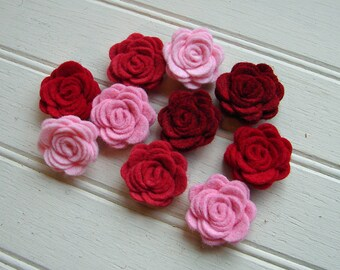Wool Felt Flowers - Mini Valentine Posies - The Original Wool Felt Posies