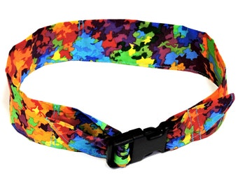 """Dog Cooling Bandana Collar, Fabric Neck Cooler Band, Buckle, Keep Cool Heat Relief Pet Neck Wrap, Adj Sz M 14 -18"""" or Sz L 18 - 22"""" iycbrand"""