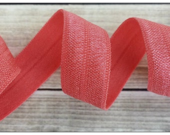 5/8 WATERMELON Fold Over Elastic 5 or 10 YARDS