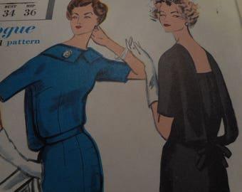 Vintage 1960's Vogue 4926 Special Design Dress Sewing Pattern, Size 14 Bust 34