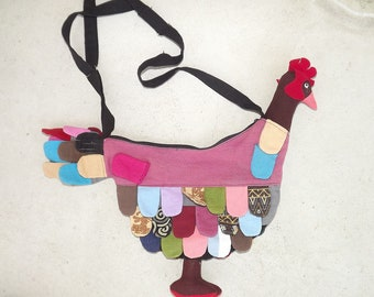 1970s home-made chicken shoulder bag
