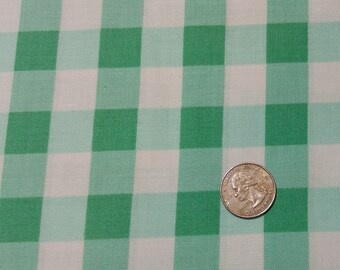 Fabric BTY  large green gingham