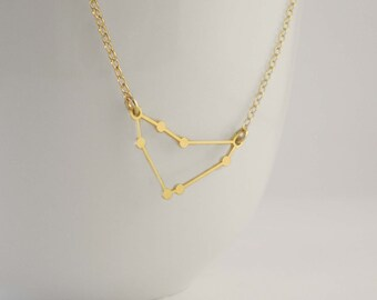Capricorn Constellation Necklace, Zodiac Constellation, Zodiac Necklace, Astrology, Stars