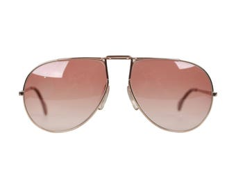ZEISS Vintage Gold Aviator Sunglasses 9359 63-16 EY3 UMBRAMATIC Lens