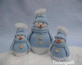 Winter friends - Snowmen - PDF pattern - download