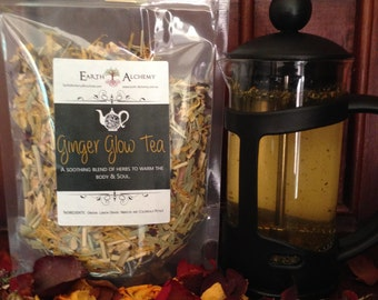 Ginger Glow Herbal Tea - Organic Herbal Infusion/Blend Warming