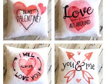 Pillow - Valentines Day Pillow Cover - Valentines Gift for Wife - Be My Valentine - Romantic Gift for Him - Soft Pillow - Kids Valentine