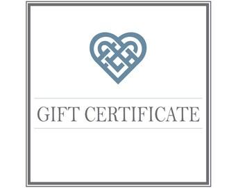 Gift Certificate for Custom Tray