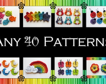 Your Choice of 40 Crochet Patterns (PDF)