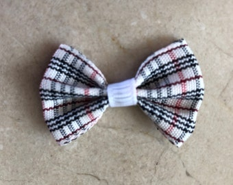 Tartan dog bow Barrette