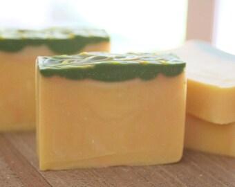 Pineapple Cilantro Soap | Handmade Soap | Cold process Soap | Skin loving Soap | Tropical Paradise Soap