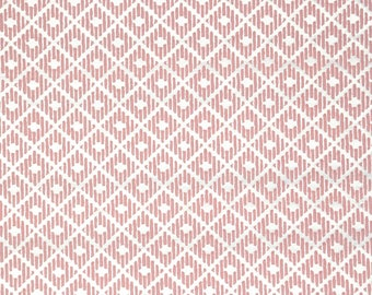 Retro Wallpaper by the Yard 70s Vintage Wallpaper - 1970s Pink Flock Geometric
