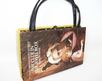 Nancy Drew Book Purse The Clue in the Jewel Box Handbag Vintage Book Purse