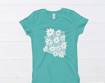 Floral Arizona | Girl's T-Shirt