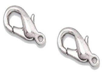 silver 12mm lobster claw clasp 30 pcs