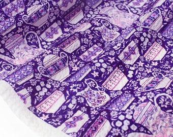 Fabric Liberty Elevenses Lavender x 50cm