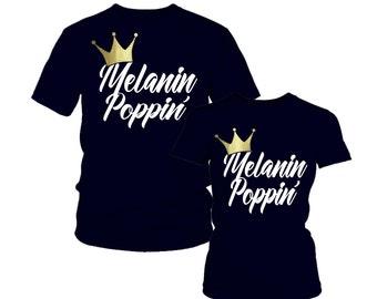 Melanin Shirt- Melanin Poppin'