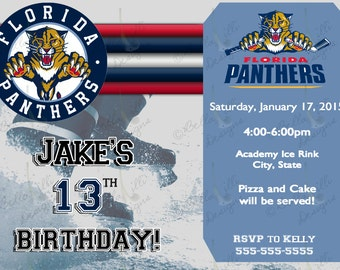 Hockey Birthday Invitation