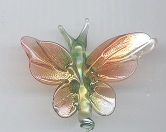 Hand blown glass pendant or hanging figurine: butterfly