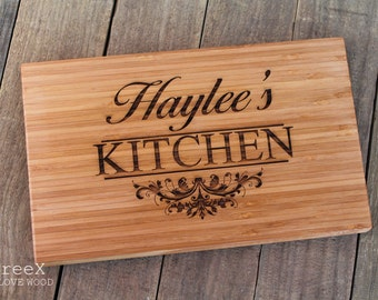 Personalized cutting board, custom chopping board, cheese and wine wooden board by TreeX, your kitchen, birthday gift