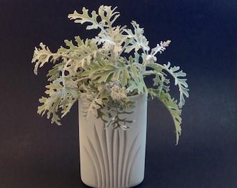 Vintage Matte White Rosenthal Vase, Modern Style, Germany