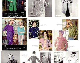 Diamond vol.27 Coats , Jackets , Bulkies in PDF instant download version , reprint ebook vintage