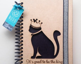 Black Cat notebook, black cat, black journal, cat journal, Embroidered Notebook, Cat Lovers, Cute Cat Notebook, cat planner, planner, furry