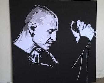 40x40 inch Chester Bennington Canvas Print