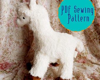 Alpaca / Llama plush pattern stuffed animal sewing PDF