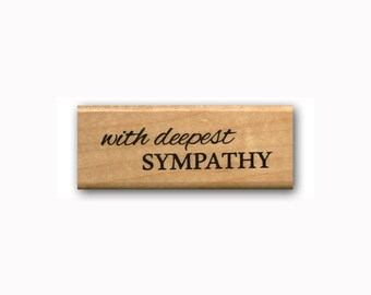 With Deepest Sympathy - Mounted rubber stamp, simple script, Sweet Grass Stamps #23