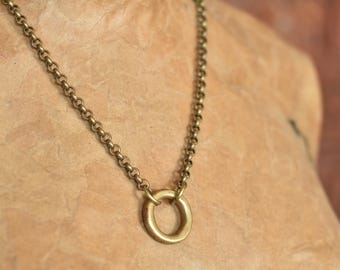 Antique African Brass Ring Necklace